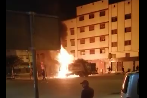بالفيديو: هذا هو مصدر الإنفجار لي سمعوه ناس في سباتة بالليل