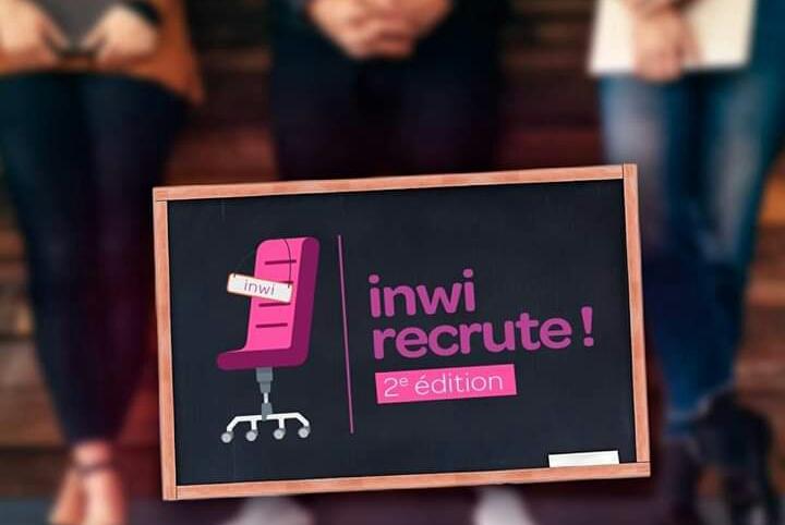 inwi recrute ! 2e édition aura lieu le mercredi 24 Juillet à partir de 9h00