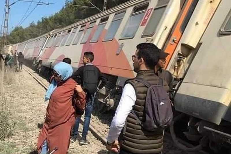 أول فيديو من مكان خروج القطار عن سكته ببوسكورة