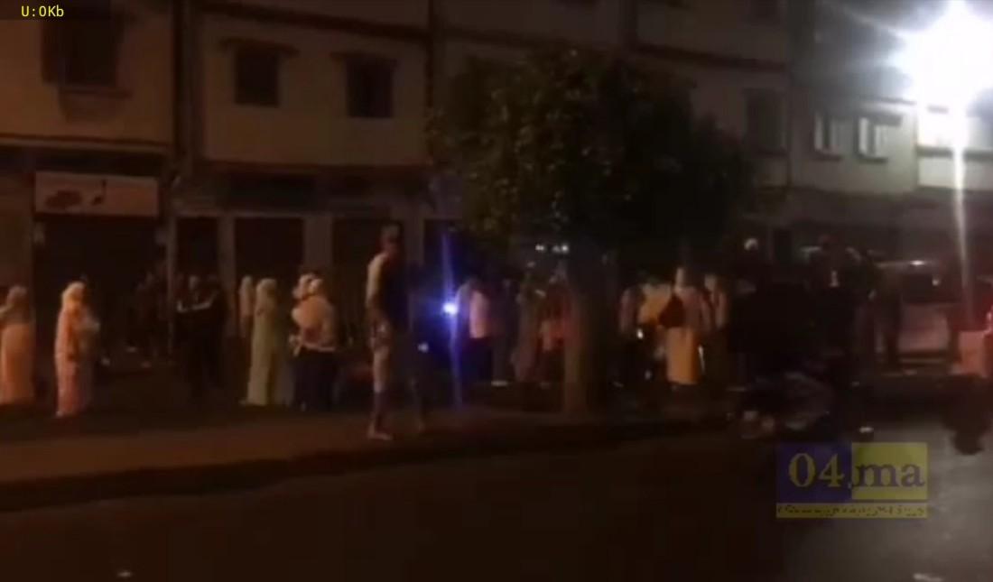 فيديو: نايضة في شارع الشجر و مواطنون يقطعون الطريق