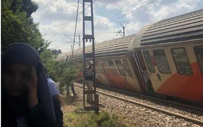 "عاجل…  انقلاب ""قطار"" قادم من مراكش"