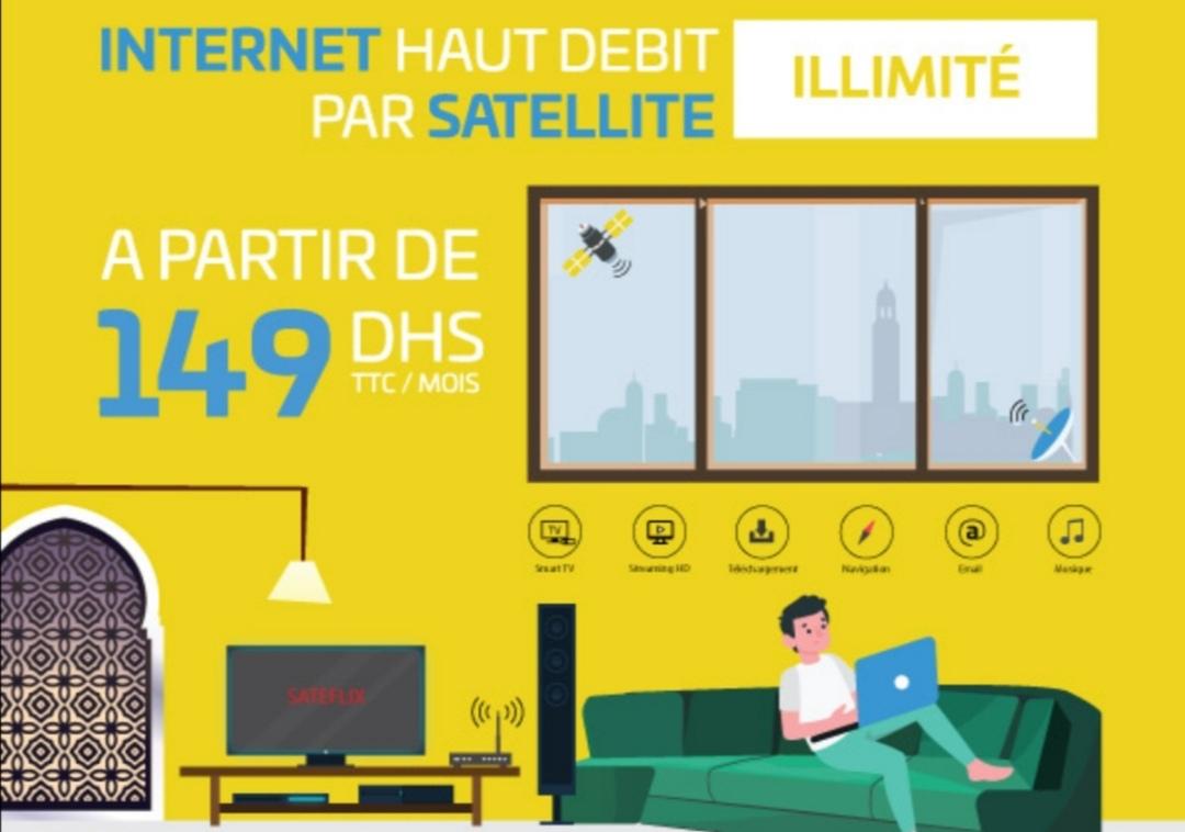 إتصالات المغرب تطلق الأنترنت عبر الأقمار الصناعية إبتداءً من 149 درهم