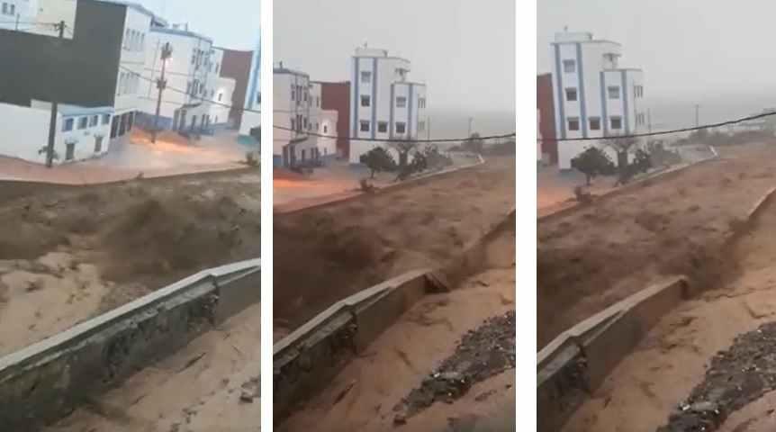 فيديو: فيضانات قوية تضرب شمال المغرب صباح اليوم