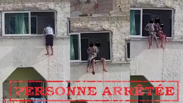القبض على تاجر مخدرات هدد برمي طفلتيه من النافذة