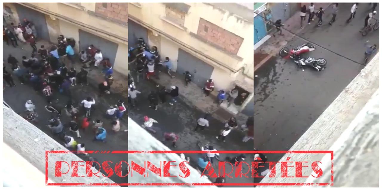 توقيف 5 أشخاص عرقلو مهام الأمن و خربو دراجات الامن خلال تدخل بمحل ملابس