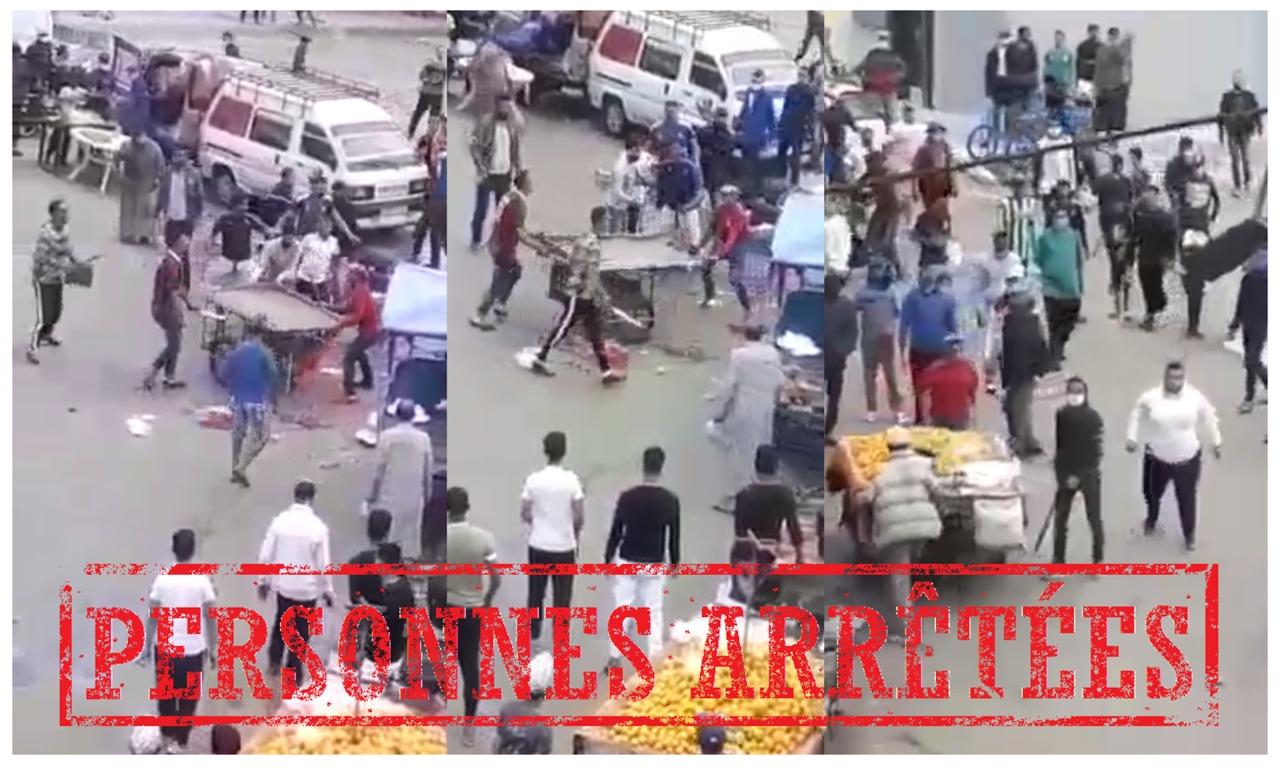 بالفيديو… أمن مولاي رشيد يوقف أبطال فيديو صراع بالأسلح
