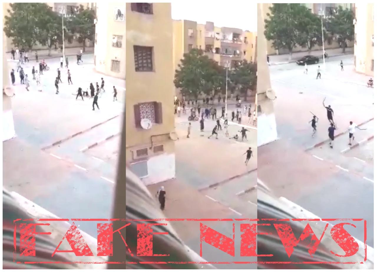 الأمن يتفاعل مع فيديو لتبادل الضرب بالسيوف و يوضح حقيقته