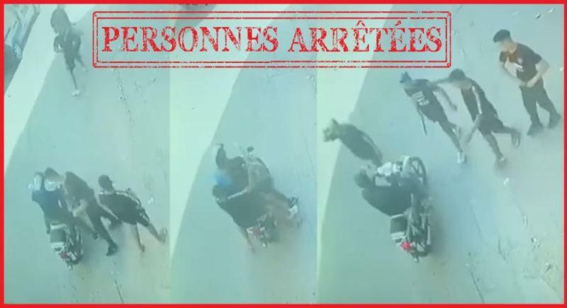 فرقة محاربة العصابات تعتقل عصابة سطت على دراجة مواطن بالقوة