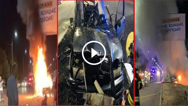 بالفيديو.. مصرع 3 طلبة مغاربة حرقا داخل سيارتهم بأوكرانيا