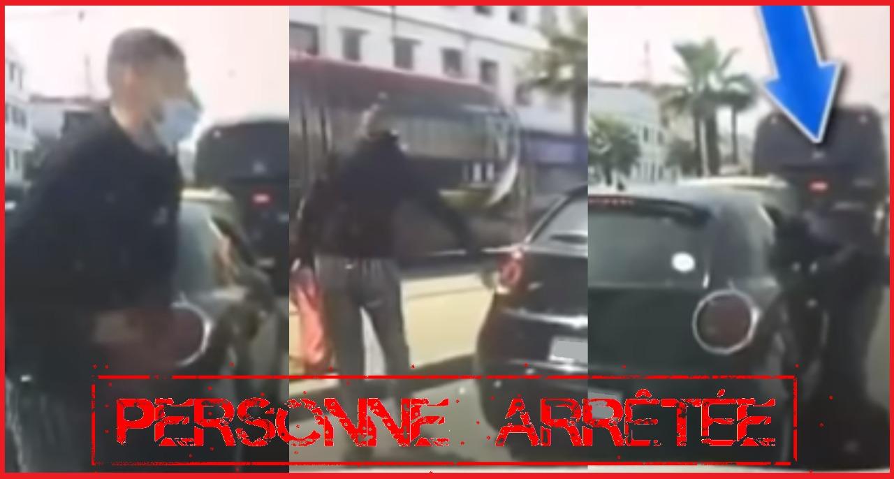 توقيف أحد أبطال فيديو السرقة من وسط سيارة بشارع الفداء بالدارالبيضاء