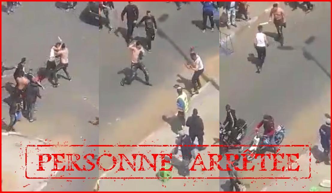 ولاية أمن البيضاء يتفاعل مع فيديو لشخصان يتبادلان الضرب والجرح بواسطة السلاح الأبيض بالشارع العام