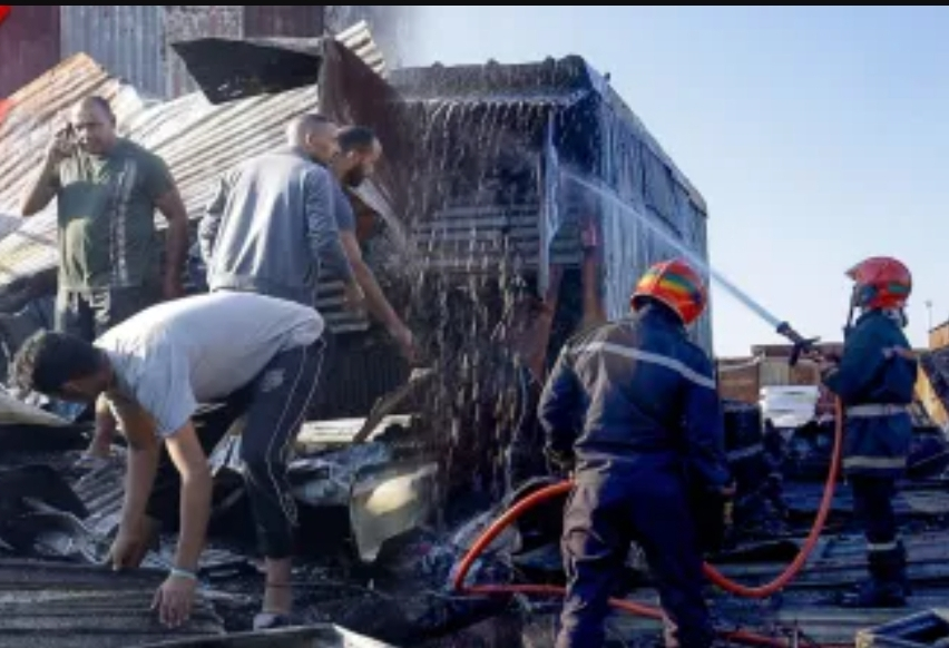 الوقاية المدنية تسيطر على حريق قريعة سباتة